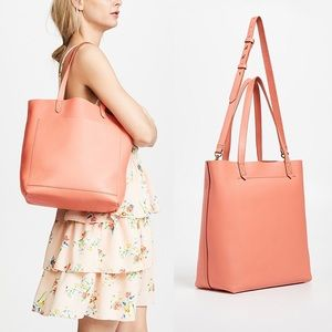 MADEWELL MEDIUM TRANSPORT TOTE - SPICED ROSE